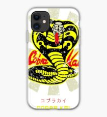 Cobra Kai Karate Kid Retro Japanese iPhone Case