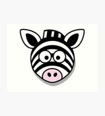 Zebra Kunstdruck