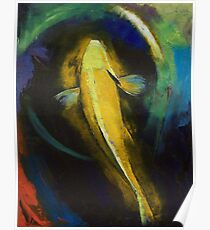Ogon Koi and Water Ripple Poster