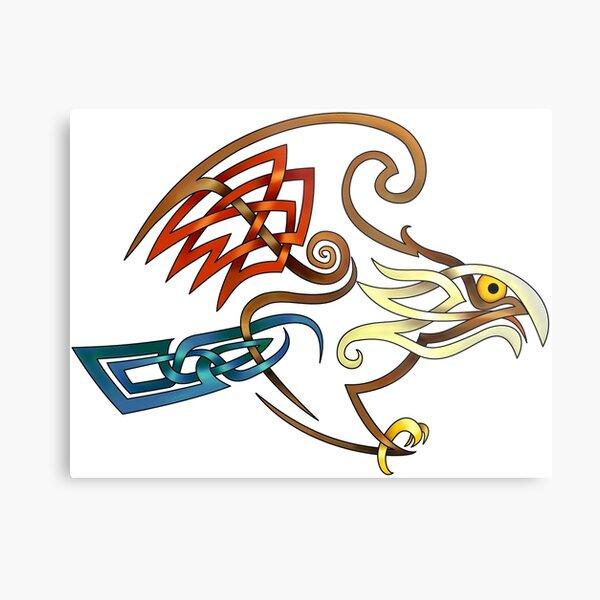 Celtic Knot Hawk Metal Print