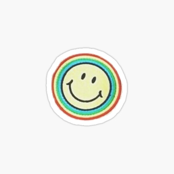 rainbow smile patch Sticker