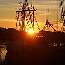 Sun Shining On Shrimp Boat by Cynthia48