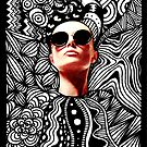 Fashion Tangle Doodle Sunglasses Woman by julieerindesign