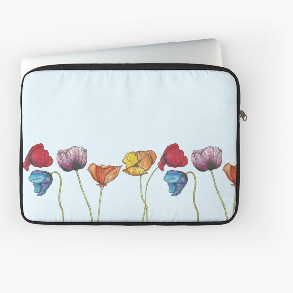 Colourful Poppies Laptop Sleeve