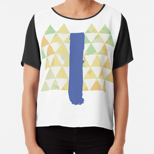 Blue Slide Park Chiffon Top