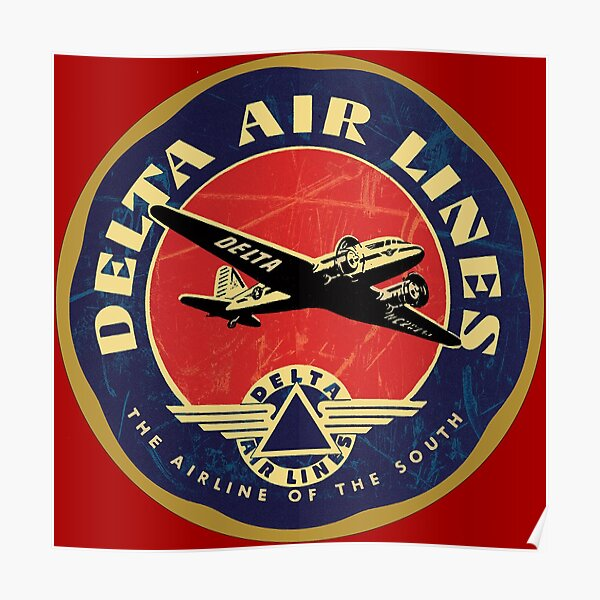 Delta Airlines USA Poster