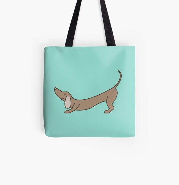 Downward Facing Dog All Over Print Tote Bag