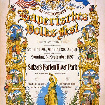 Bavarian Volksfest New York Vintage Poster 1897 by vintagetreasure