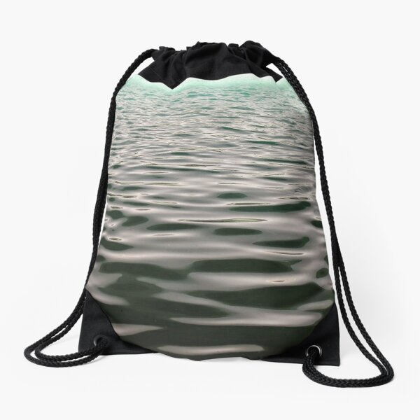 #water, #sea, #wave, #nature, #reflection, abstract, beach, summer, clean, liquidity, seascape Drawstring Bag