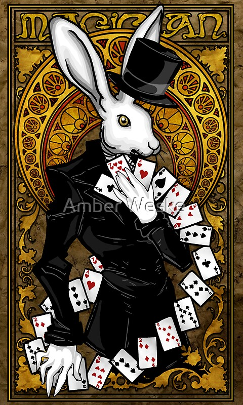 Quot Rabbit Tarot Card Quot By Amber Weske Redbubble