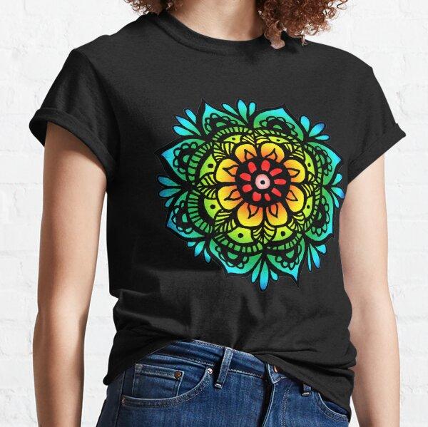 Pastel Rainbow Mandala Design Classic T-Shirt