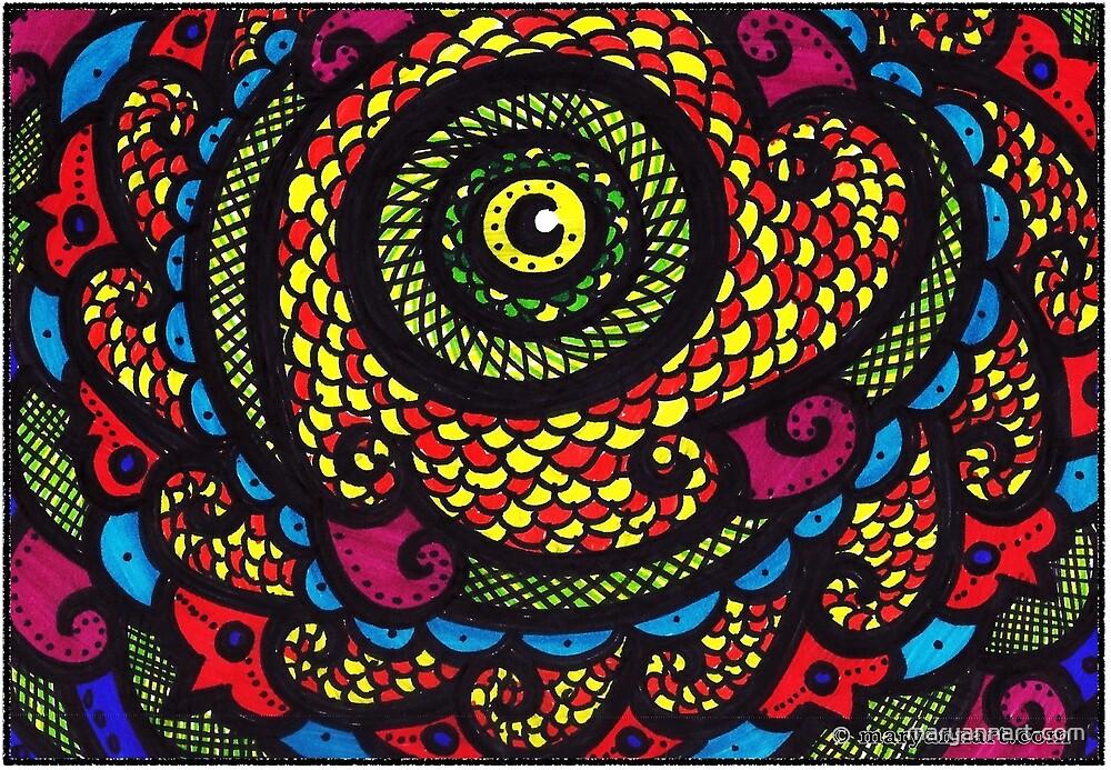 Reptile Eye by maryannart-com