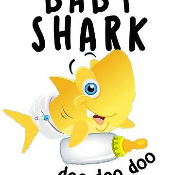 Kids Gift Doo Doo Doo Baby Shark by amethystdesign