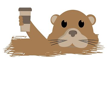 Otter Coffee T shirt by 3familyllc
