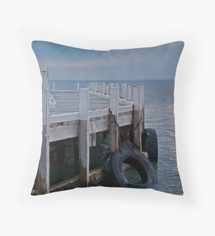 Pt Richards Jetty, Bellarine Peninsula Throw Pillow