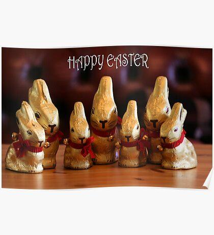 Happy Easter Bunnies Poster