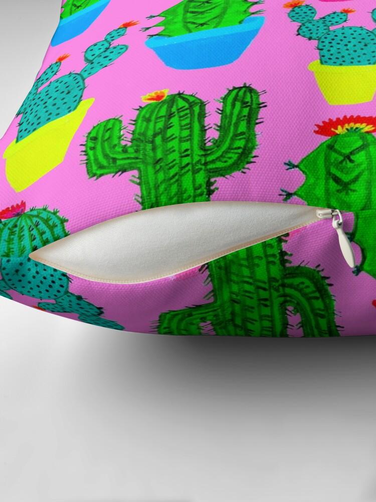 Alternate view of Bubblegum Cacti Throw Pillow