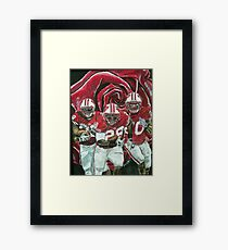 Rose bowl Badgers Framed Print