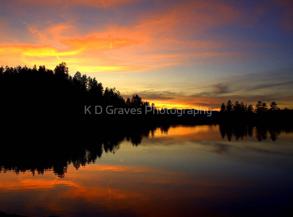 Firey Sunset by K D Graves Photography