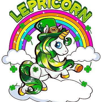 Lepricorn Unicorn Irish Leprechaun St. Patrick's by frittata