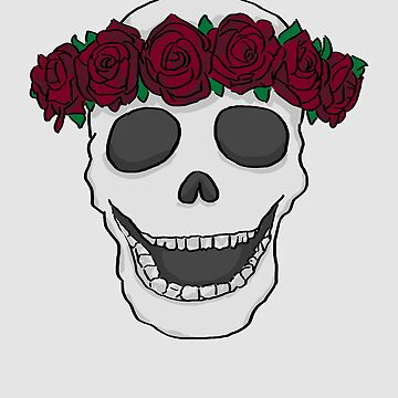 Skull Roses by WordvineMedia