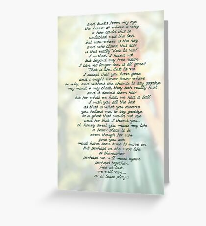 C'est La Vie © All Is As It Is Greeting Card