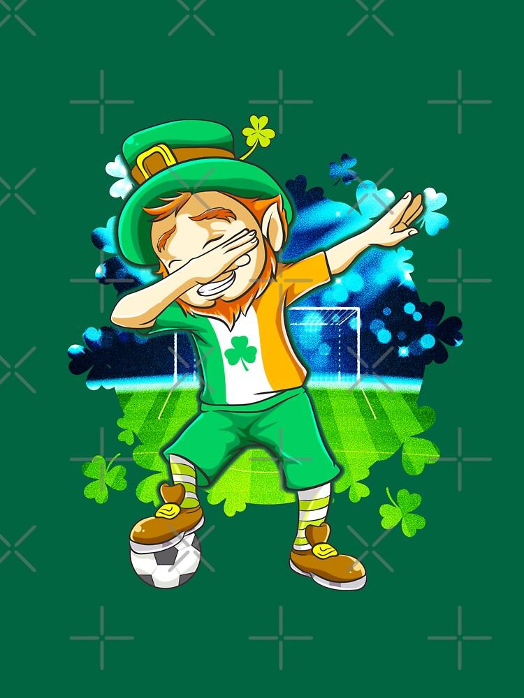 Dabbing Leprechaun Soccer St. Patrick's by frittata