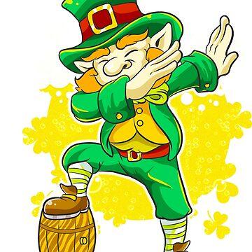 Dabbing Leprechaun Beer Keg St. Patrick's by frittata