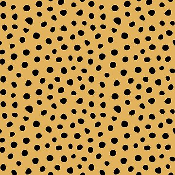 Tan and Black Spotted Animal Print Pattern  by deecdee