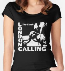 London Calling - The White Stencil Women's Fitted Scoop T-Shirt