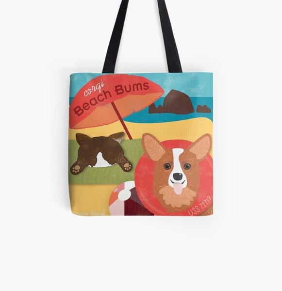 2019 Corgi Beach Bums - 2 Corgi All Over Print Tote Bag
