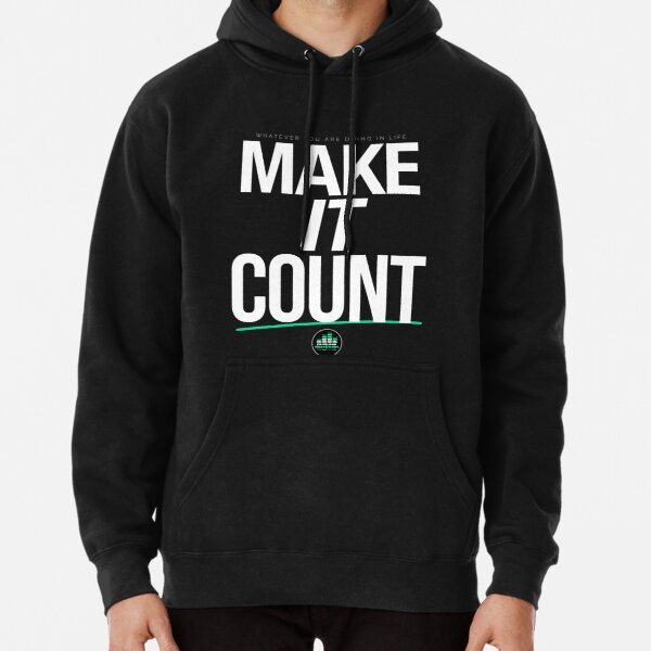MAKE IT COUNT (White) Pullover Hoodie