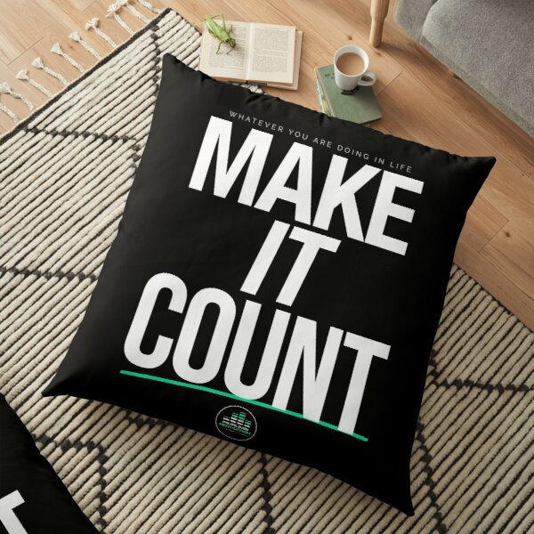 MAKE IT COUNT (White) Floor Pillow