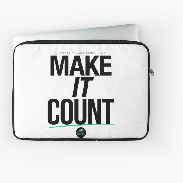 Make It Count (Black) Laptop Sleeve