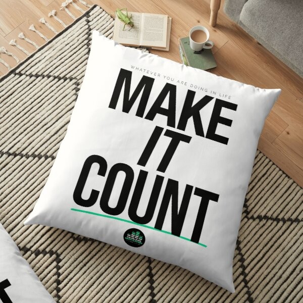 Make It Count (Black) Floor Pillow