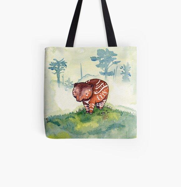 Baby Tapir All Over Print Tote Bag