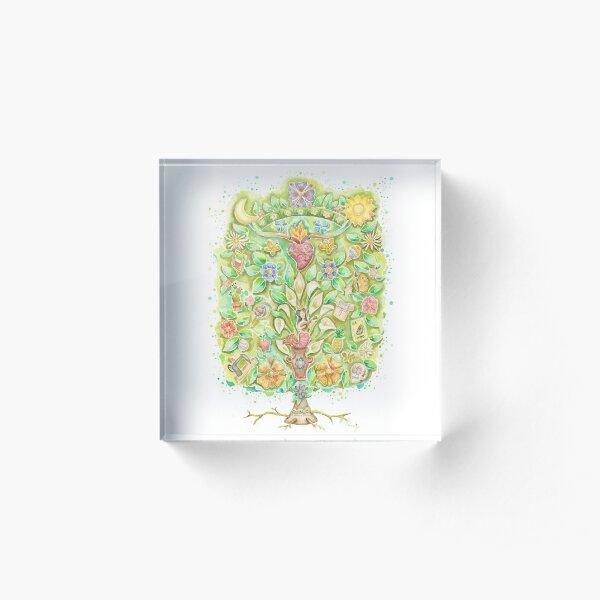 """Tree of life, """"Arbol de la vida"""" Acrylic Block"""