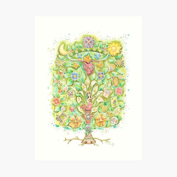 "Árbol de la vida, ""Arbol de la vida"". Lámina artística"
