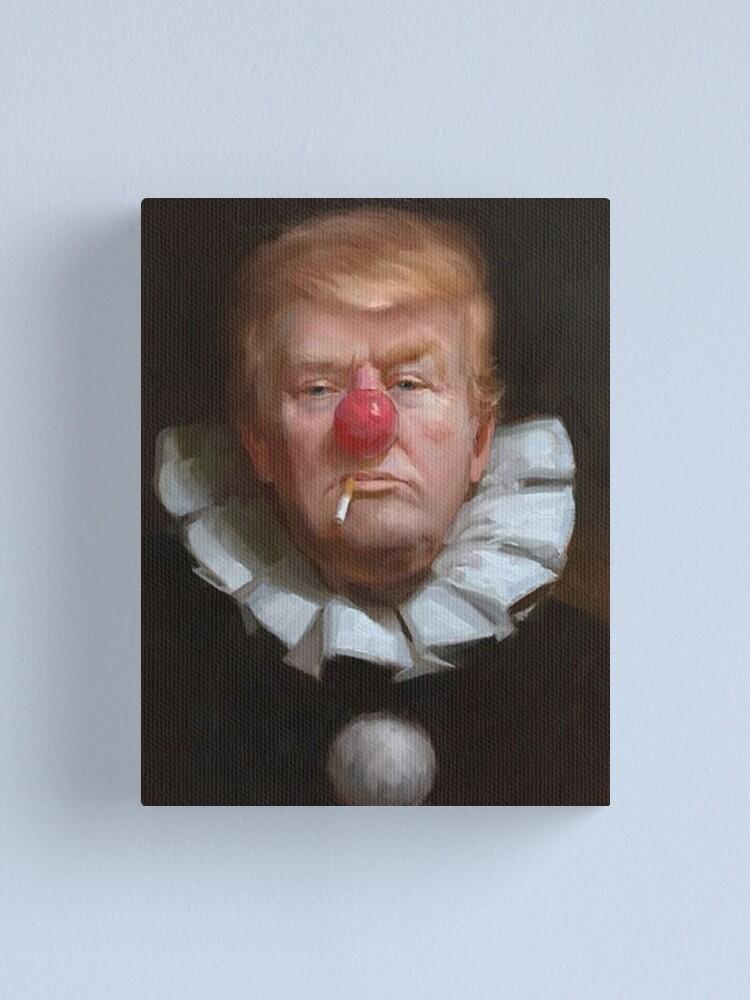Alternate view of Clown President Donald Trump Canvas Print