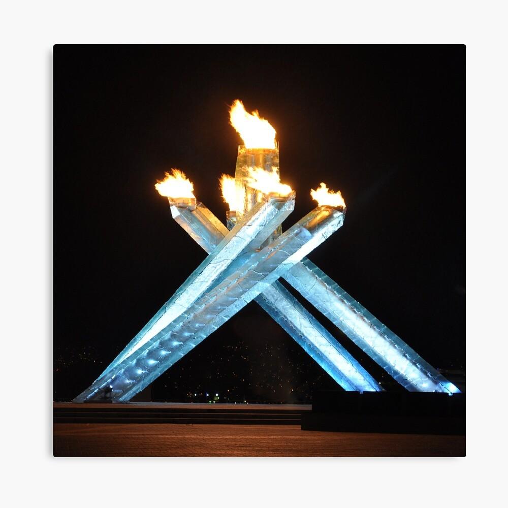 Olympic cauldron Leinwanddruck