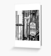 chicago boss Greeting Card