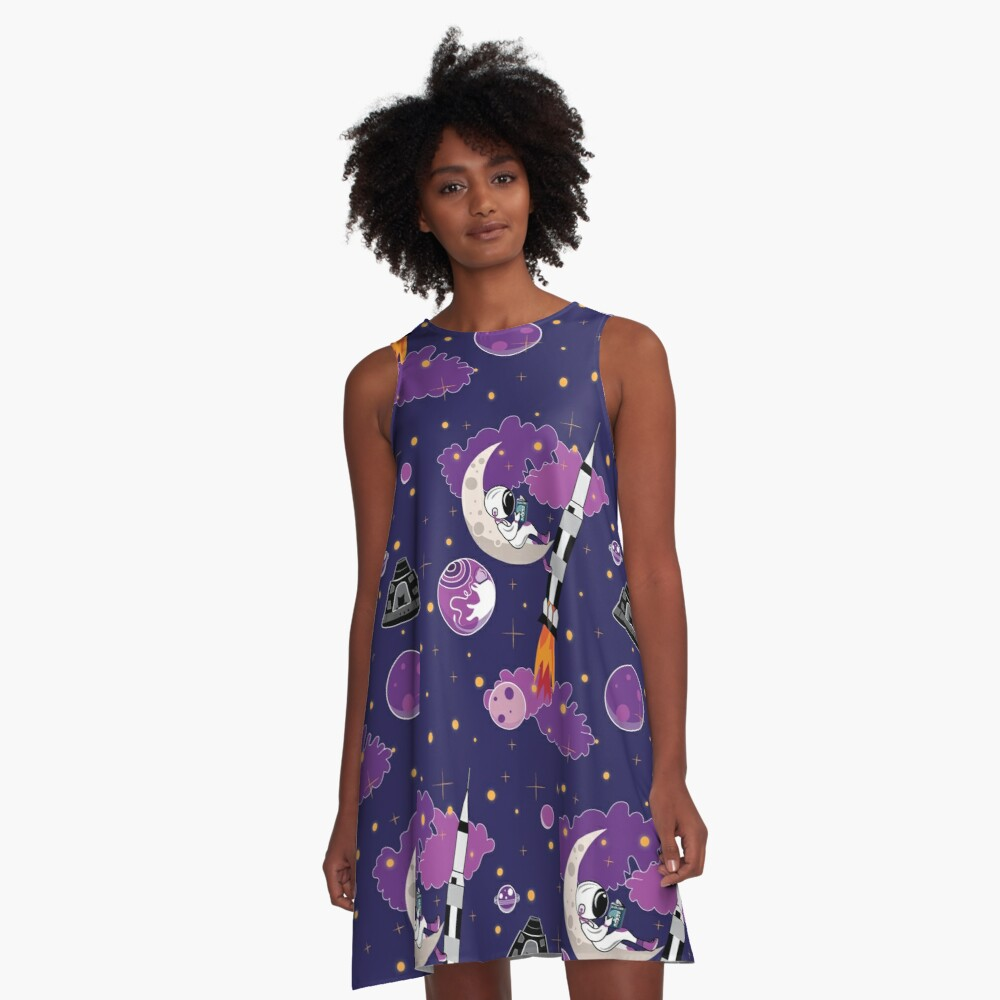 Dreaming of Landing on the Moon A-Line Dress