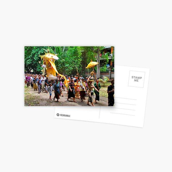 Balinese cremation ceremony 3 Postcard