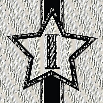 STAR of the SHOW art deco style letter I by CecelyBloom
