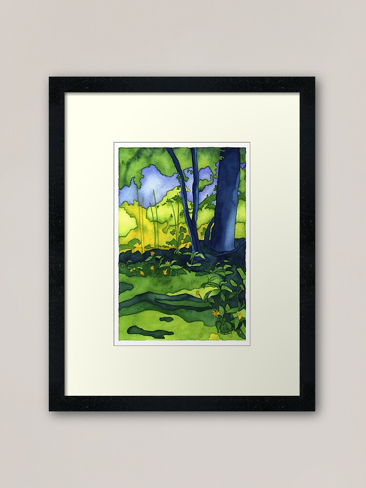 Alternate view of Psychedelic Summer Framed Art Print
