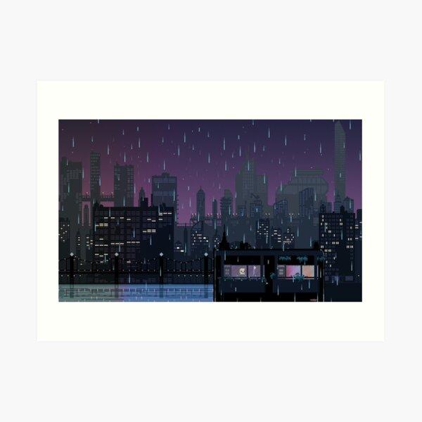 Rain over Carbon Valley Art Print
