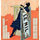 Vintage Paris Cigarette Poster by mindydidit