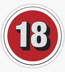 Over 18 Sticker