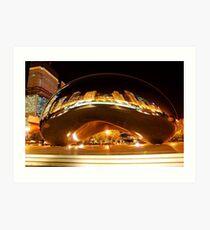 Chicago Bean Millenium Park Art Print