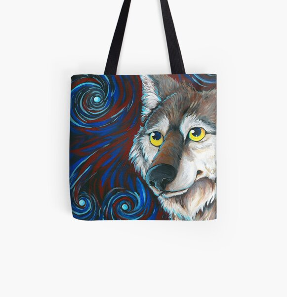 Mexican gray Wolf All Over Print Tote Bag